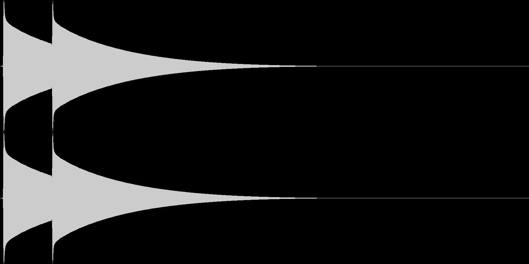 ピンポーン(チャイム、インターホン)の未再生の波形
