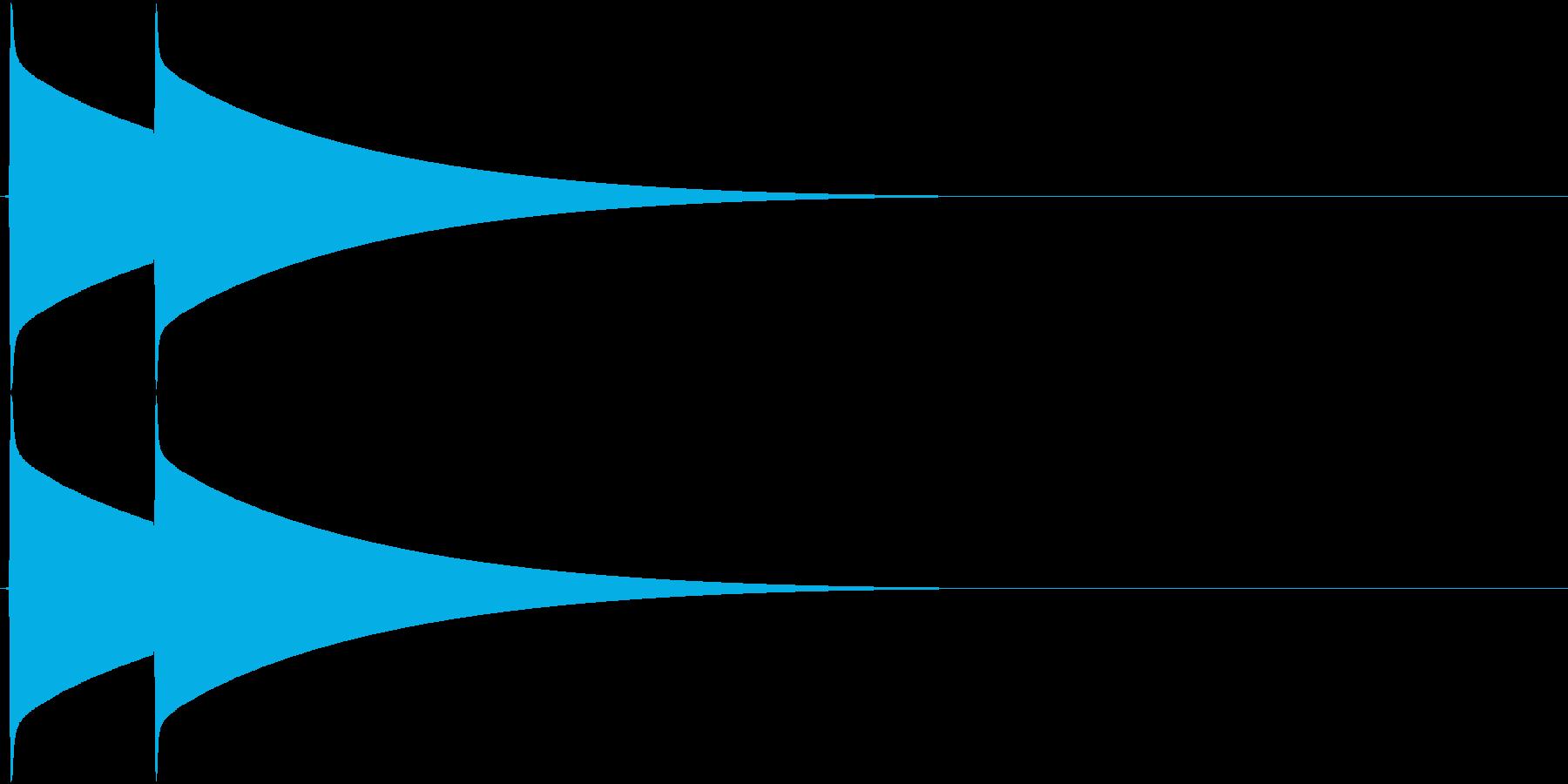 ピンポーン(チャイム、インターホン)の再生済みの波形