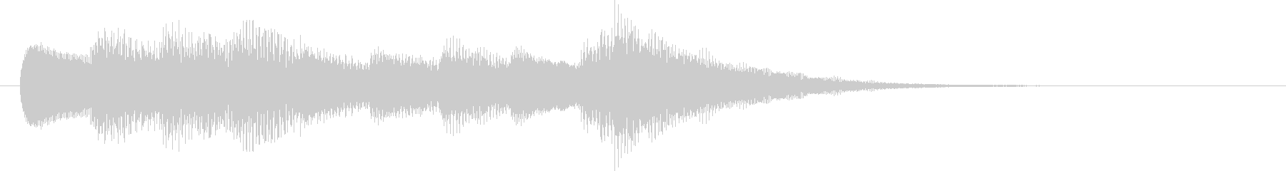 インフォメーションチャイム(やさしい)の未再生の波形