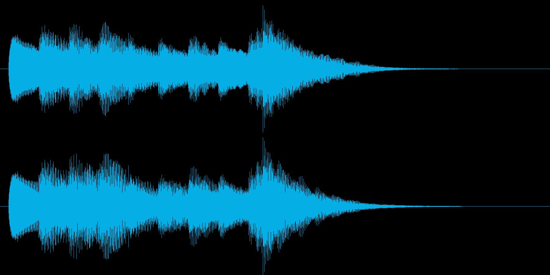 インフォメーションチャイム(やさしい)の再生済みの波形