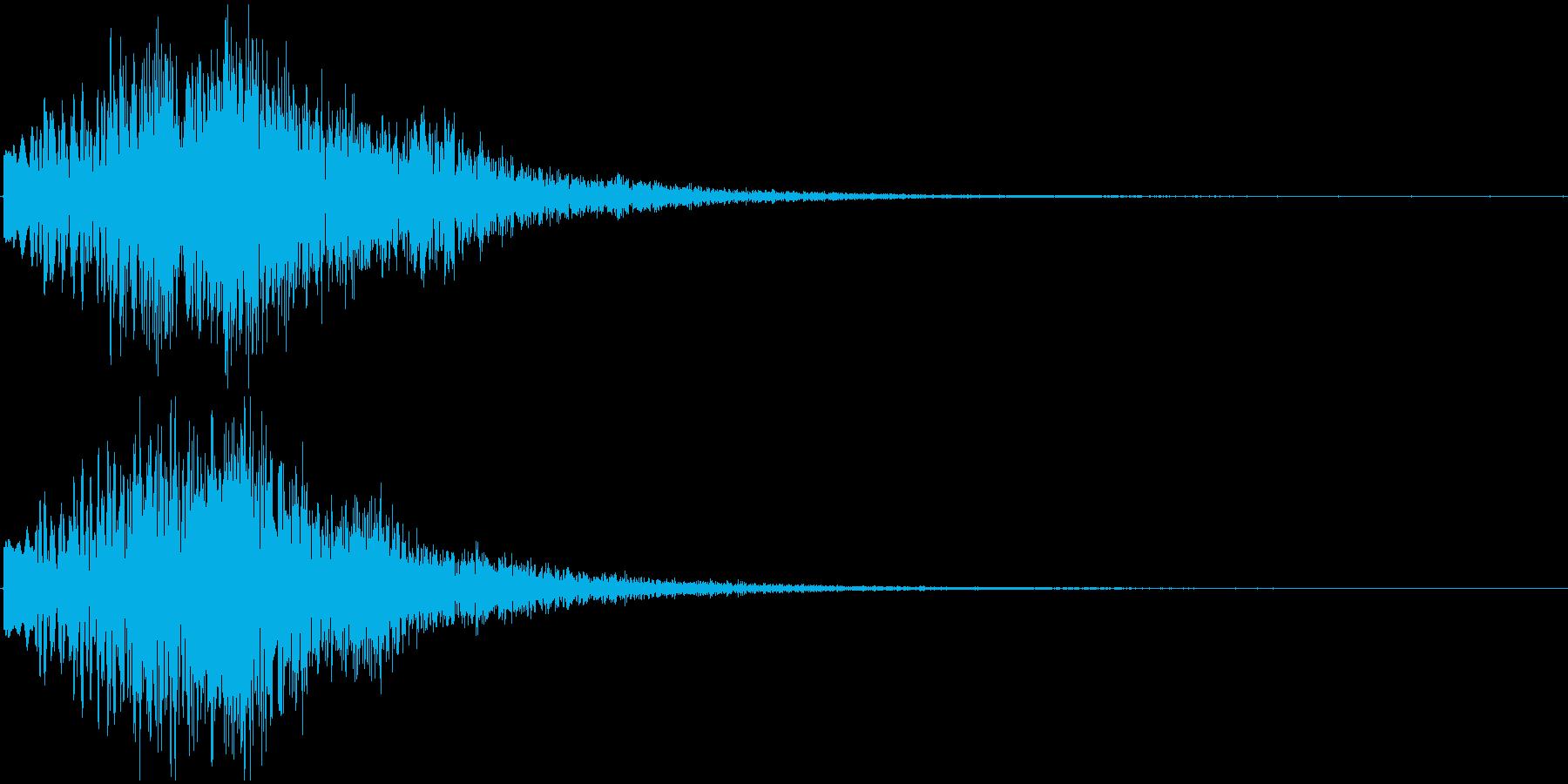 ボワーン ピョワーン ワープするような音の再生済みの波形