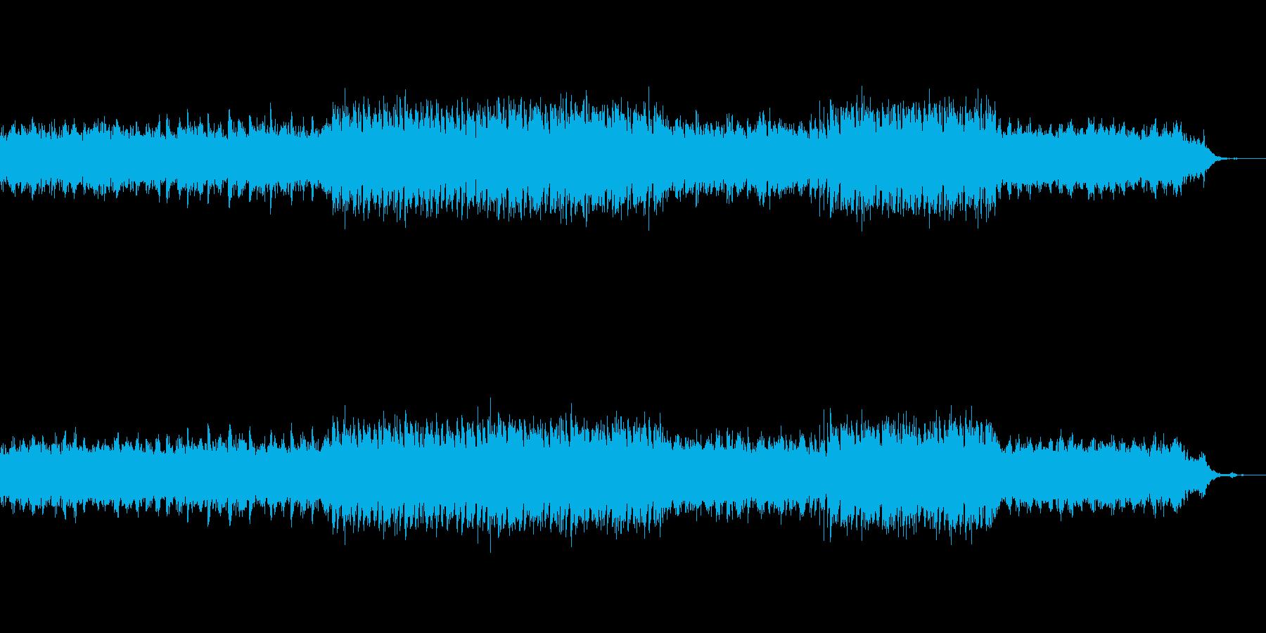 未来のビーチのイメージのシンセBGMの再生済みの波形