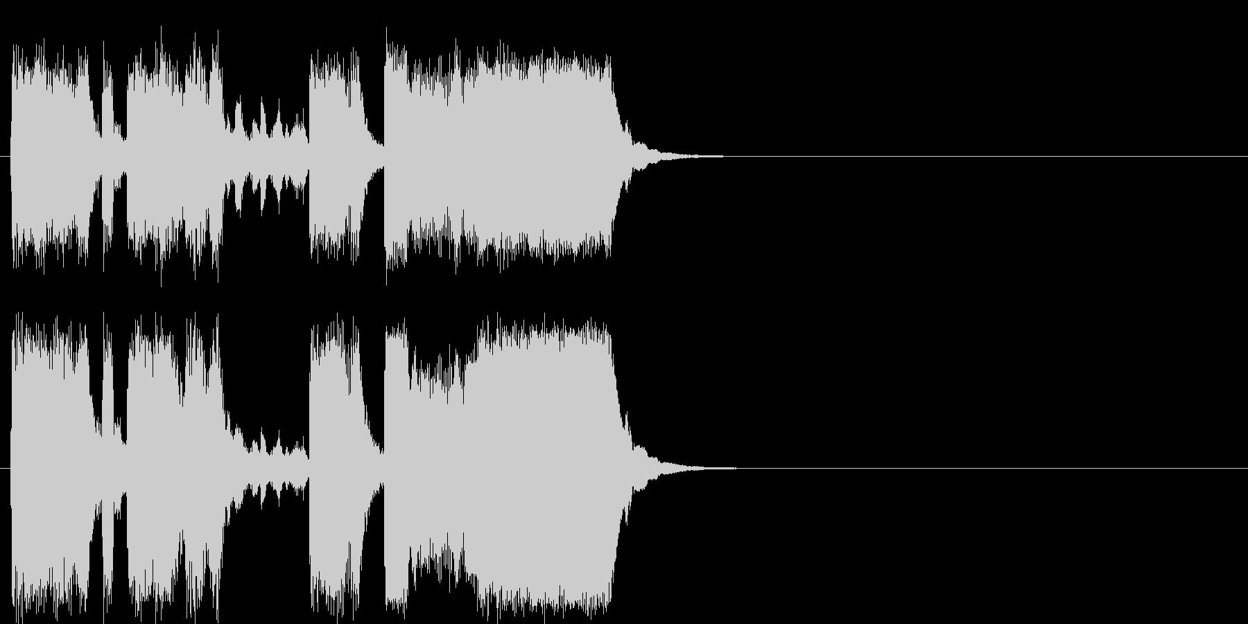 コミカルジングルの未再生の波形