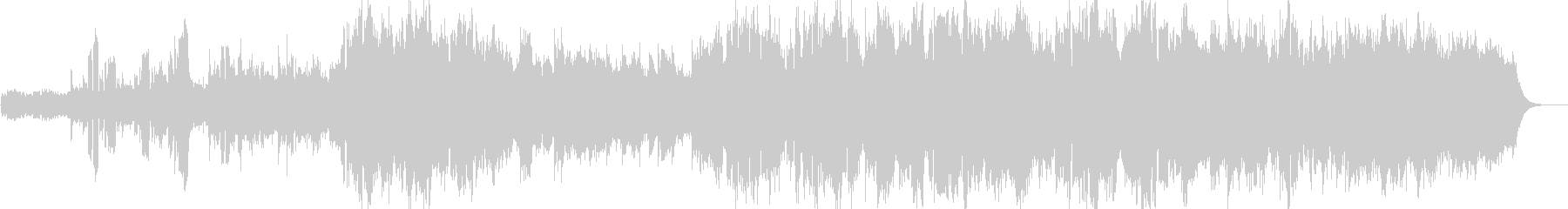 スペーシーな混声バラードの未再生の波形