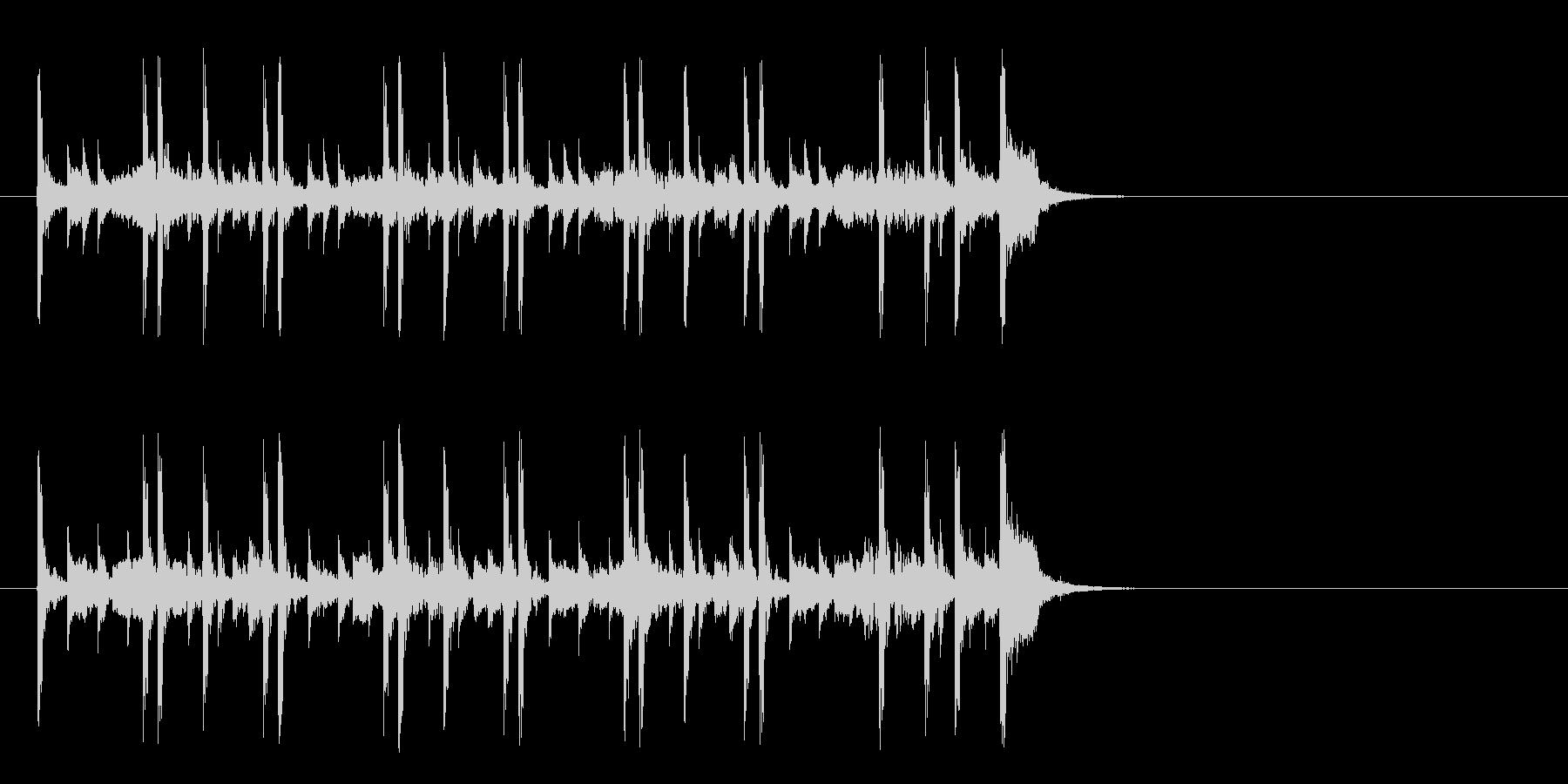 化学実験を観察するポップ(イントロ)の未再生の波形