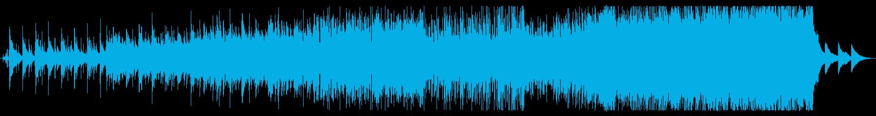 段々展開していくプログレぽい壮大な曲の再生済みの波形