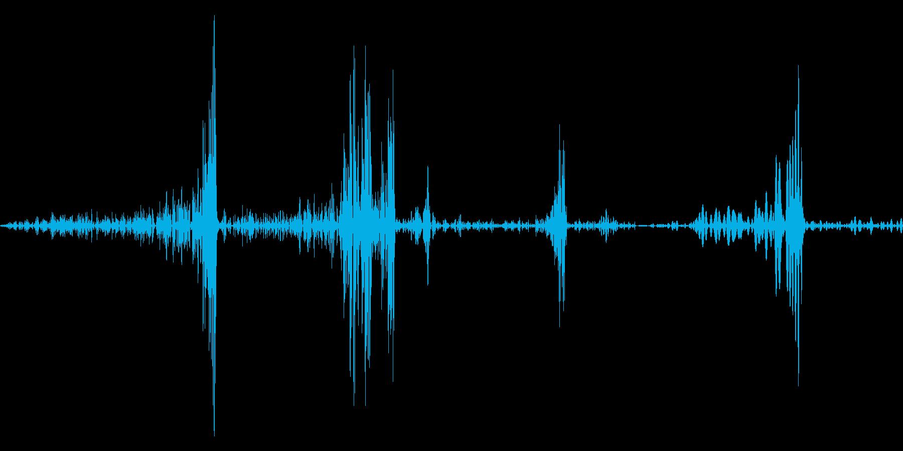 ページめくり音の再生済みの波形