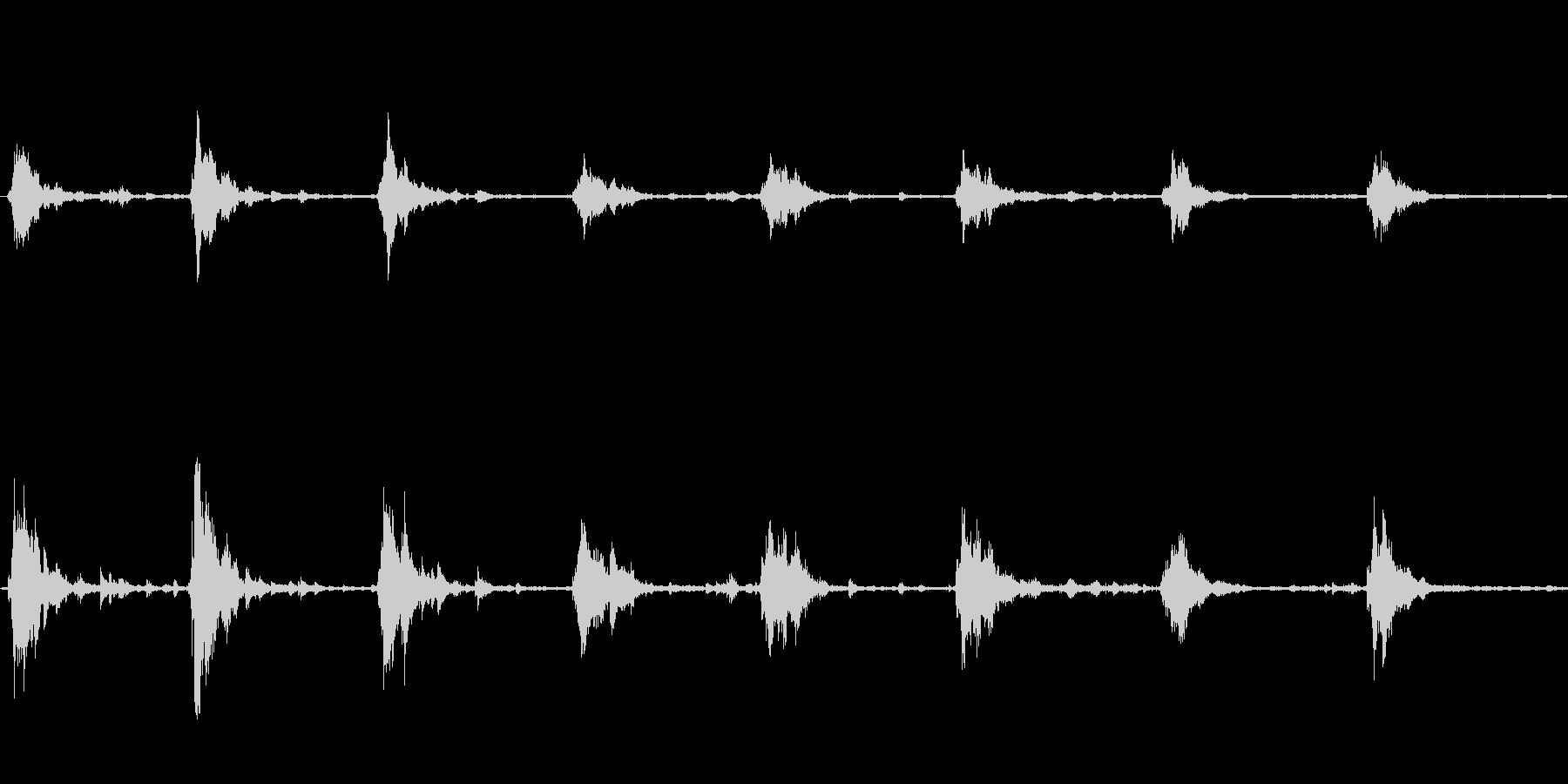 スレイベルの音の未再生の波形