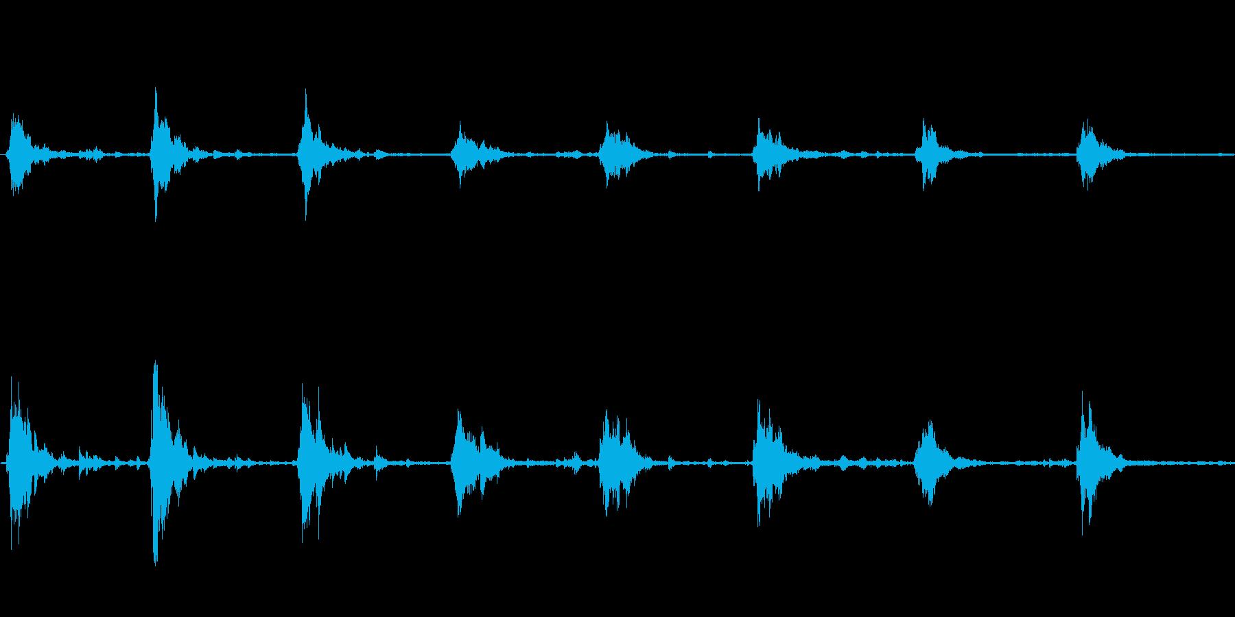 スレイベルの音の再生済みの波形