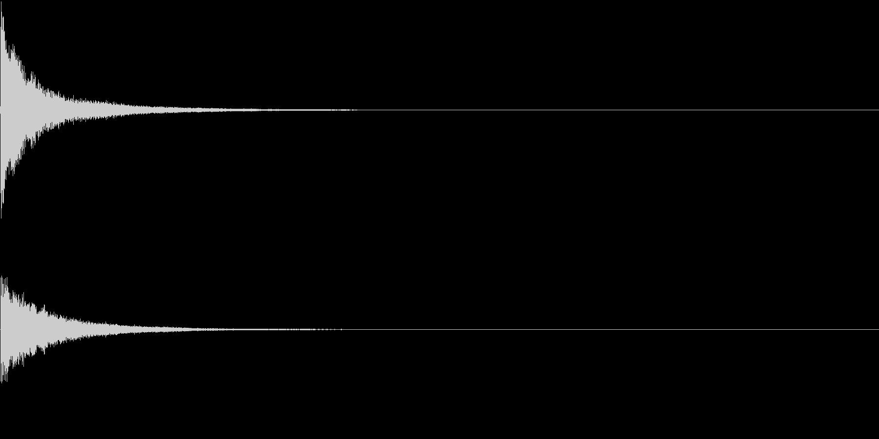 カンッ(ガード、防御音)の未再生の波形