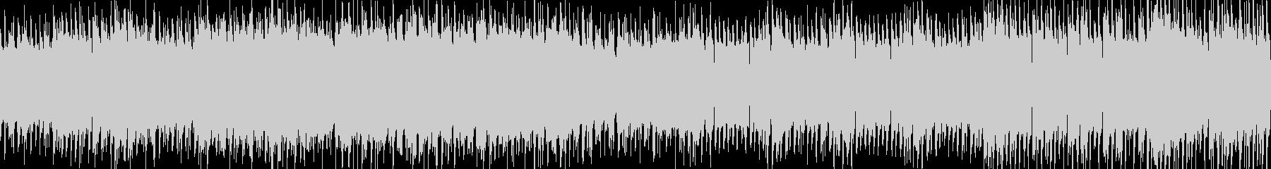 【電子音サウンド】浮遊感ループBGMの未再生の波形