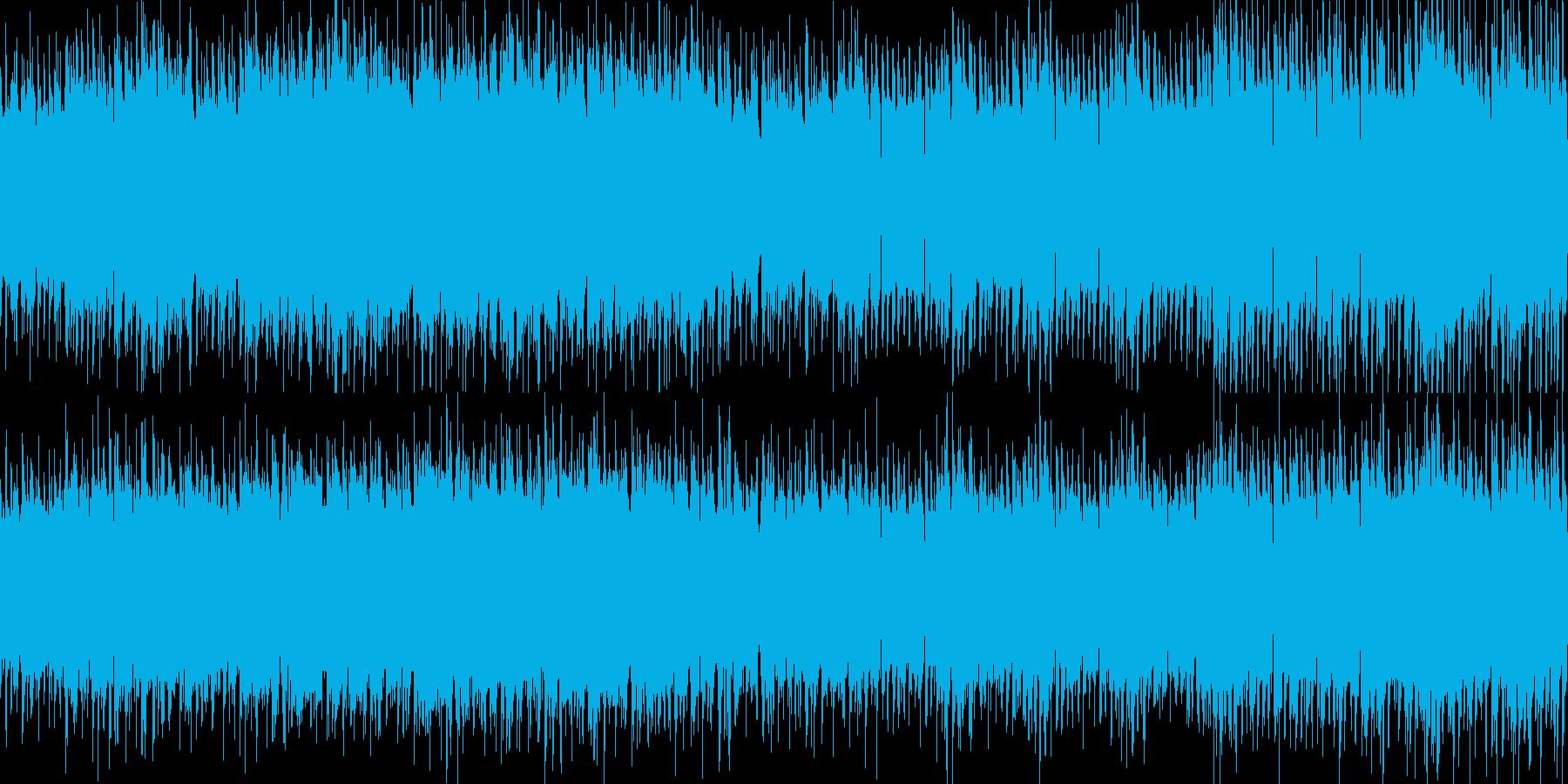 【電子音サウンド】浮遊感ループBGMの再生済みの波形