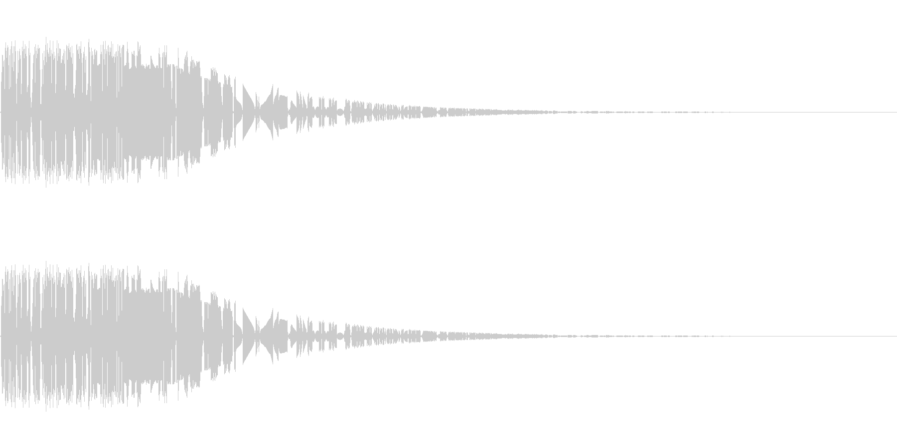 バシャッ08(水・液体系のアクション音)の未再生の波形