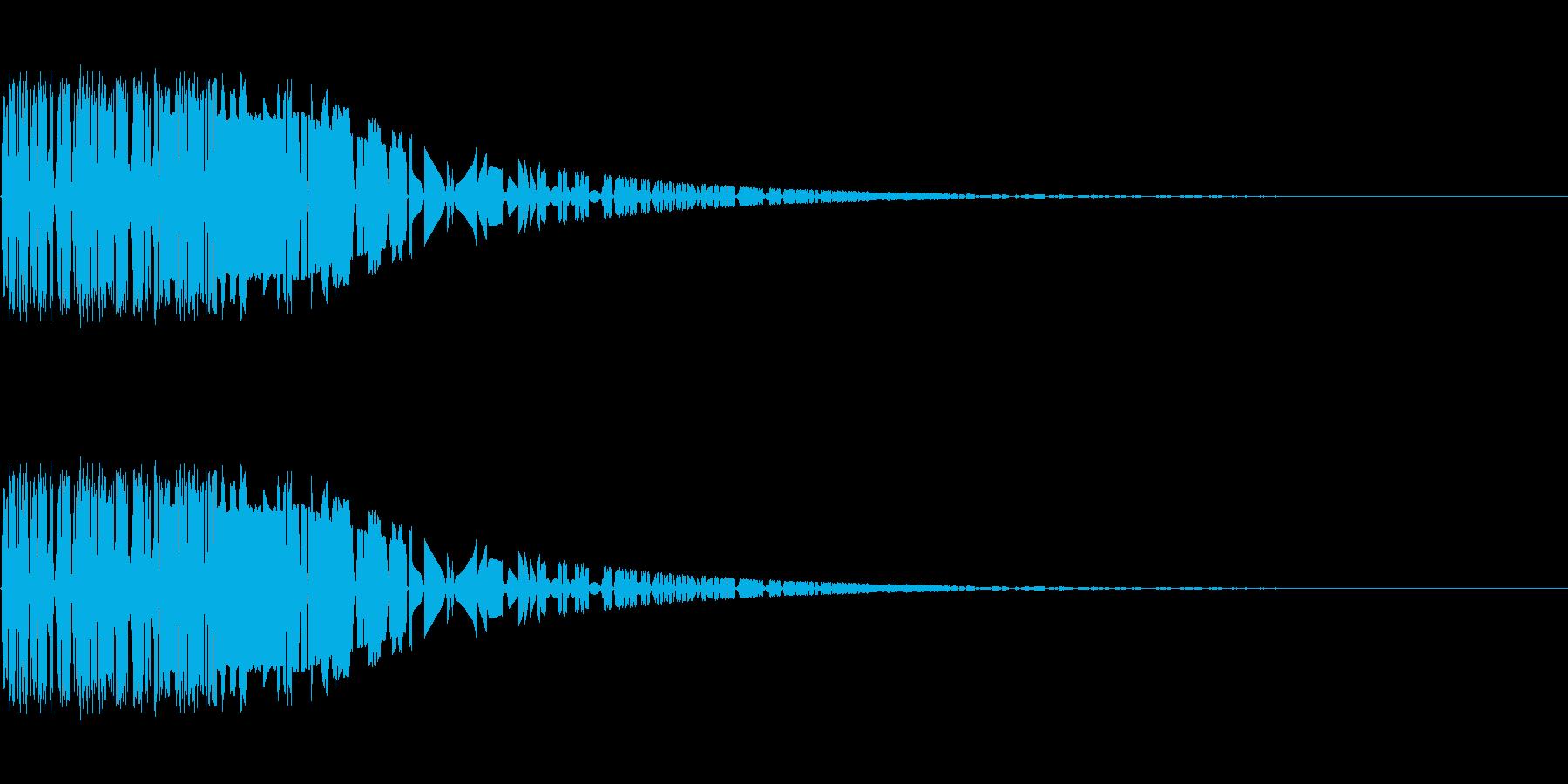 バシャッ08(水・液体系のアクション音)の再生済みの波形