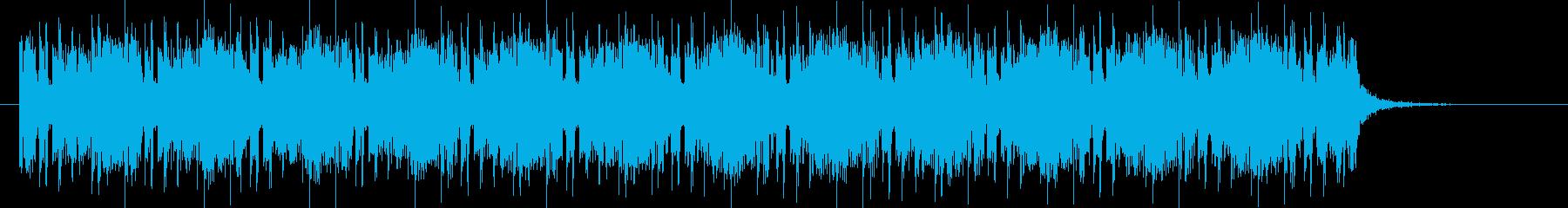 神秘的でマイナーなテクノジングルの再生済みの波形