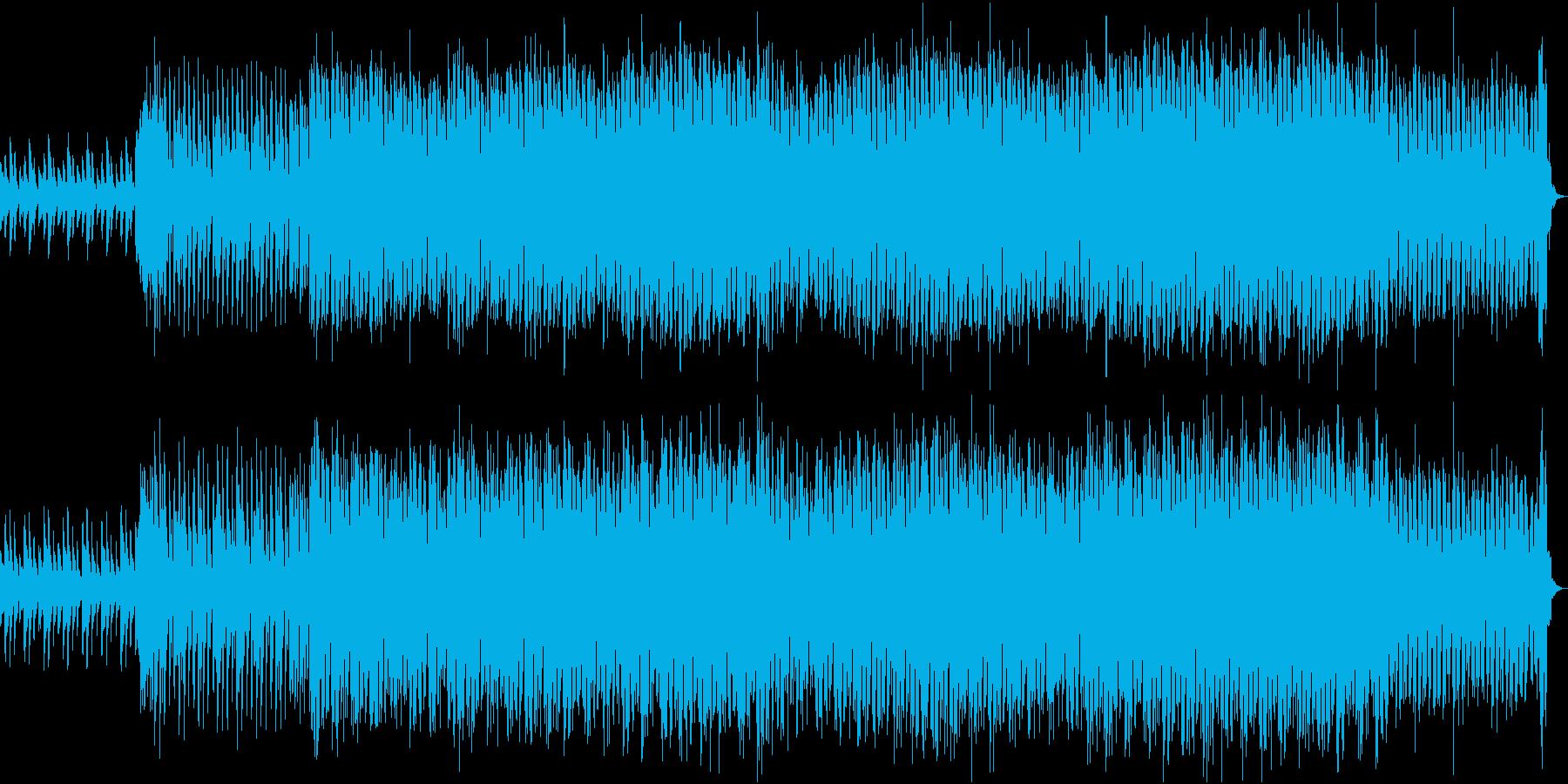 爽快で透き通るピアノのダンスチューンの再生済みの波形