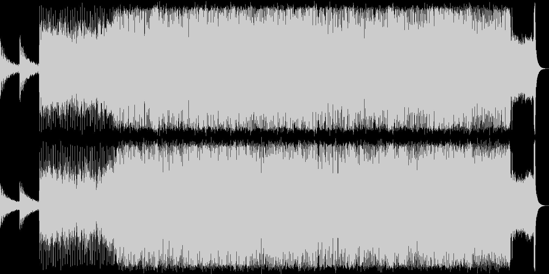 EDMとロックを組み合わせた激しい楽曲の未再生の波形