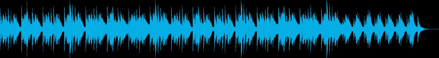 古都のイメージの美しい琴の調べの再生済みの波形