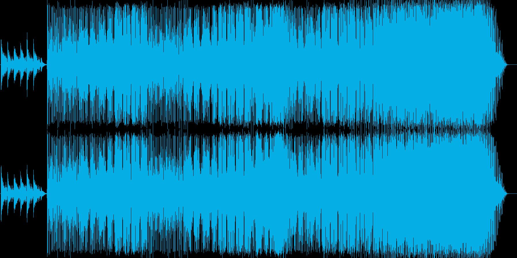 アコースティックな切ないバラードの再生済みの波形
