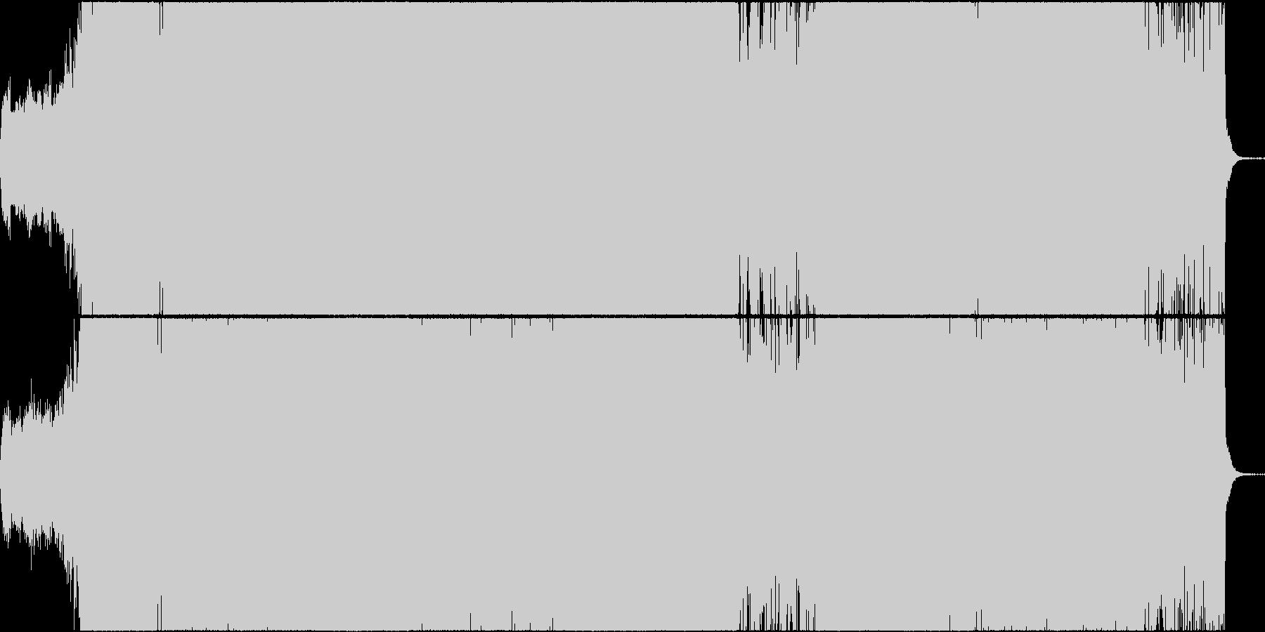 疾走感あるドラマチックなデジタル・ロックの未再生の波形