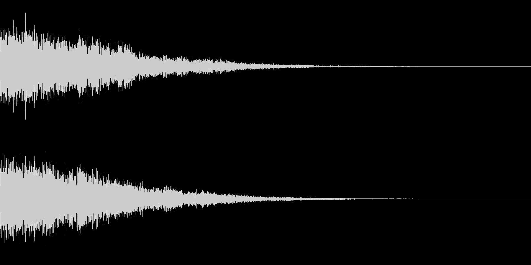 [チャララーン] 決定 (可愛く華やか)の未再生の波形