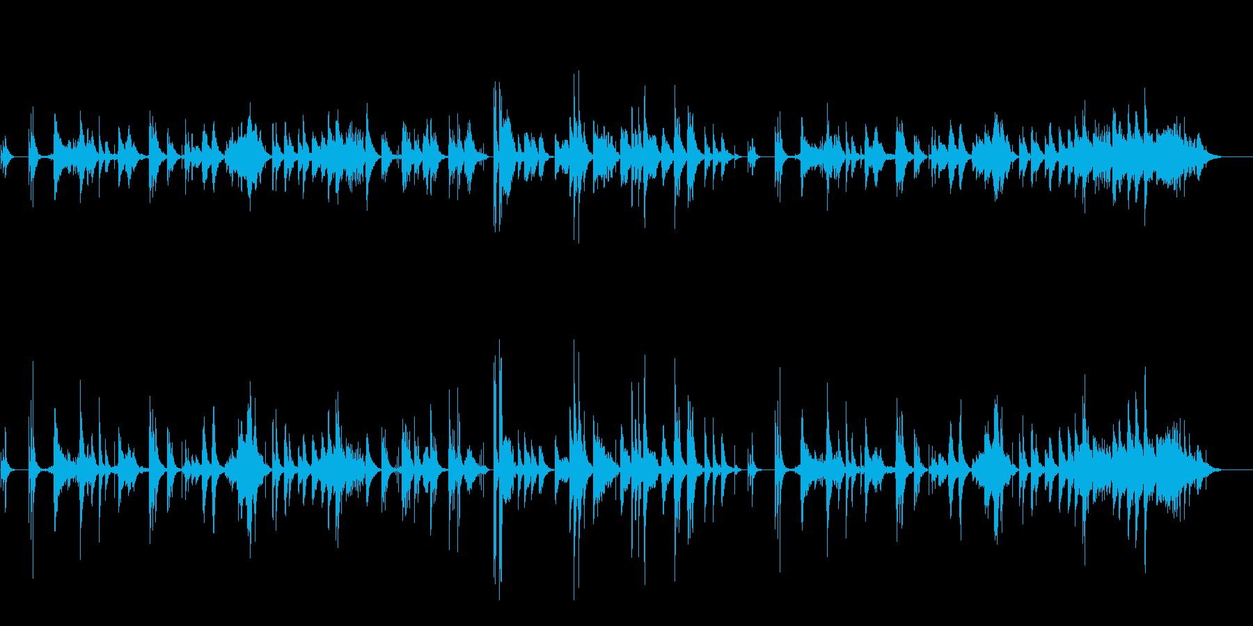 ゆらぎのα波サウンドの再生済みの波形