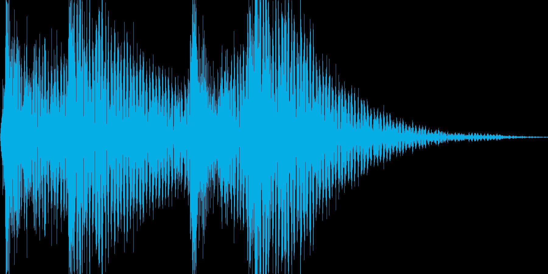 ジャンジャジャン (三味線、太鼓)の再生済みの波形