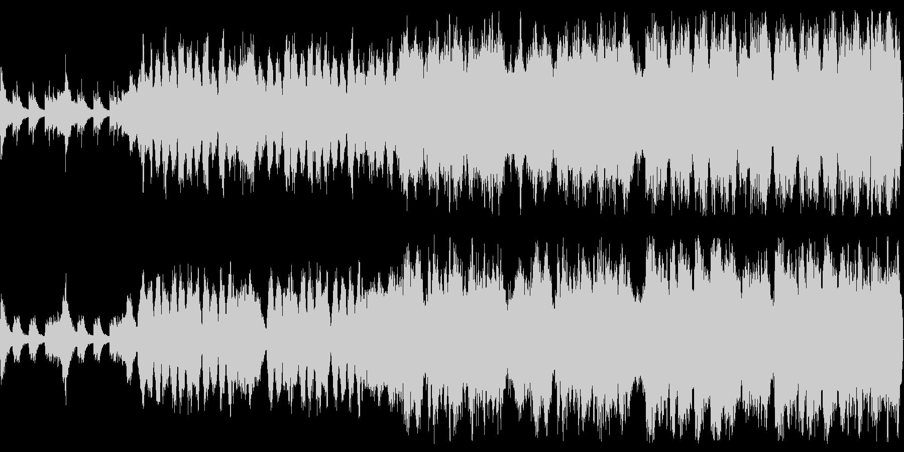 威風堂々とした管弦楽によるマーチの未再生の波形