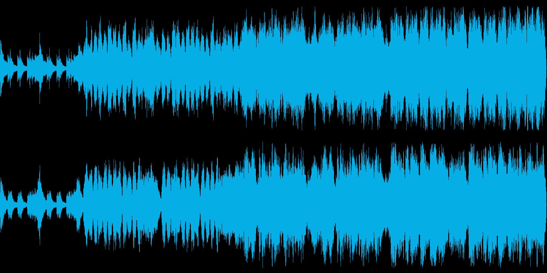 威風堂々とした管弦楽によるマーチの再生済みの波形