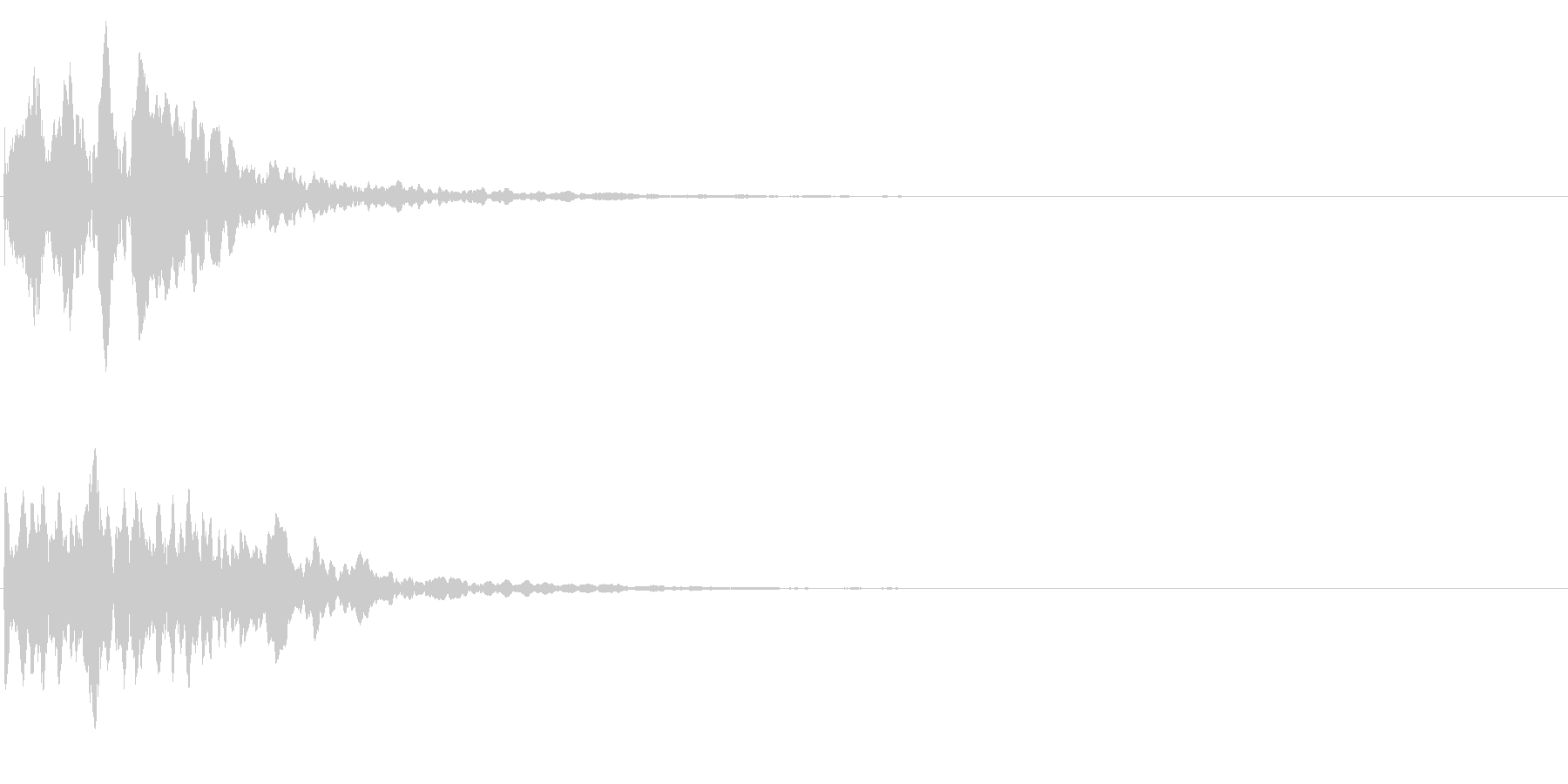 ゲームスタート、決定、ボタン音-023の未再生の波形