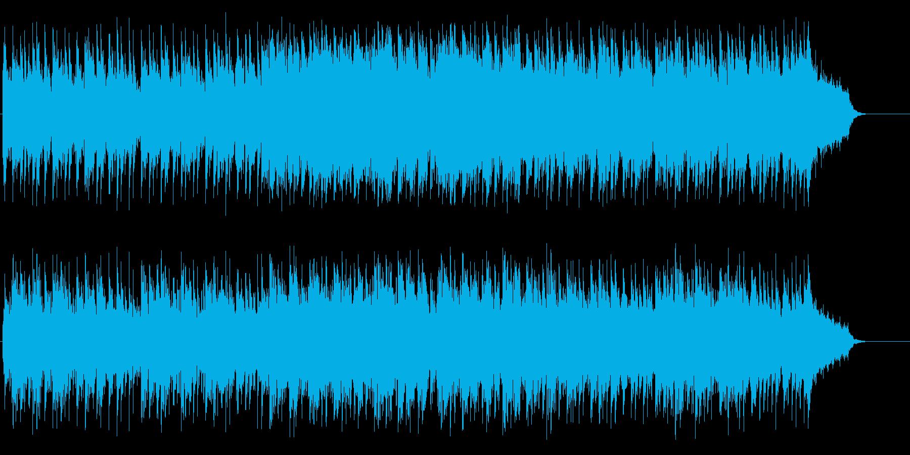 力強さを感じるドキュメントBGMの再生済みの波形