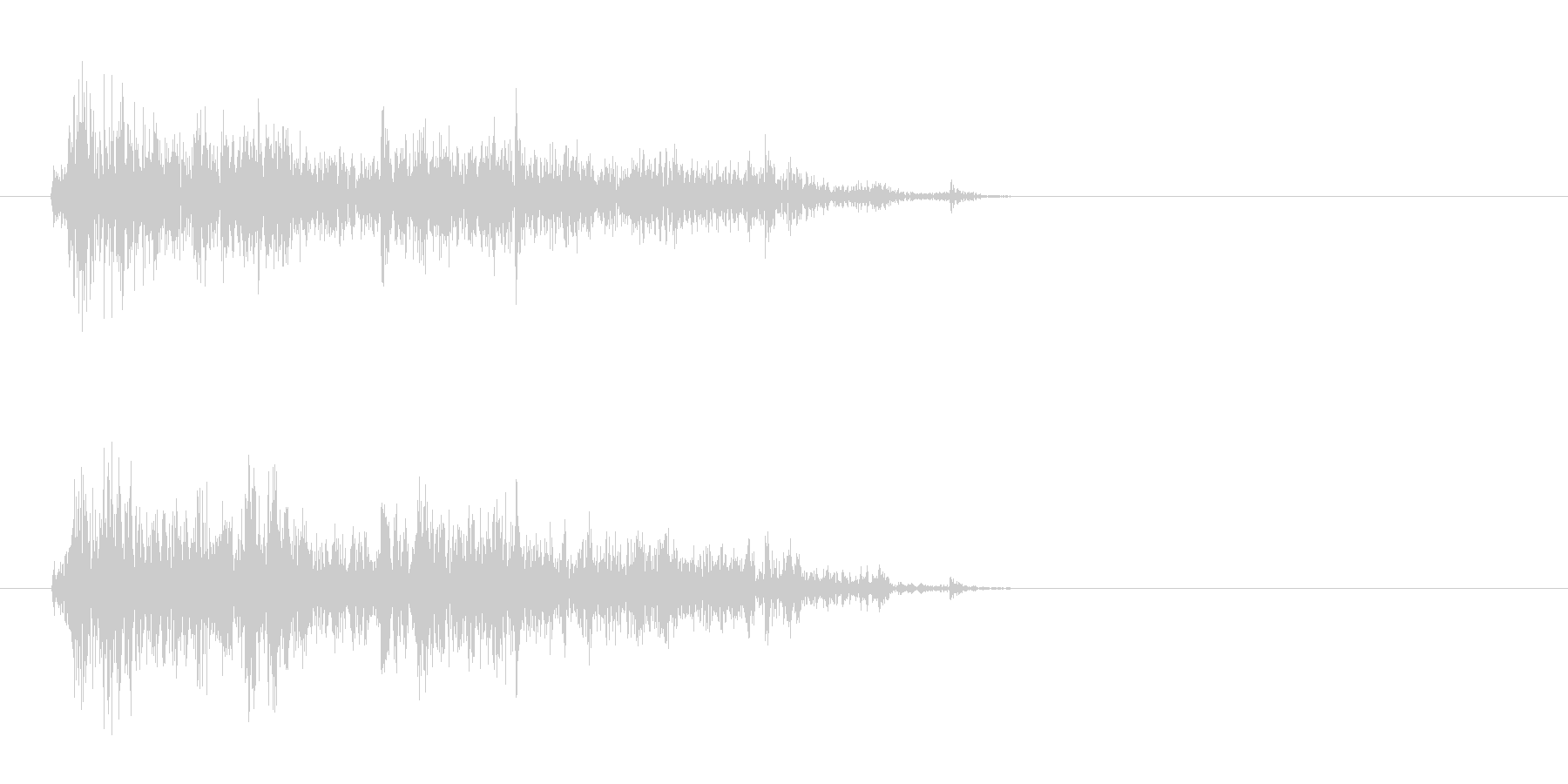 マガジンを装着する音の未再生の波形