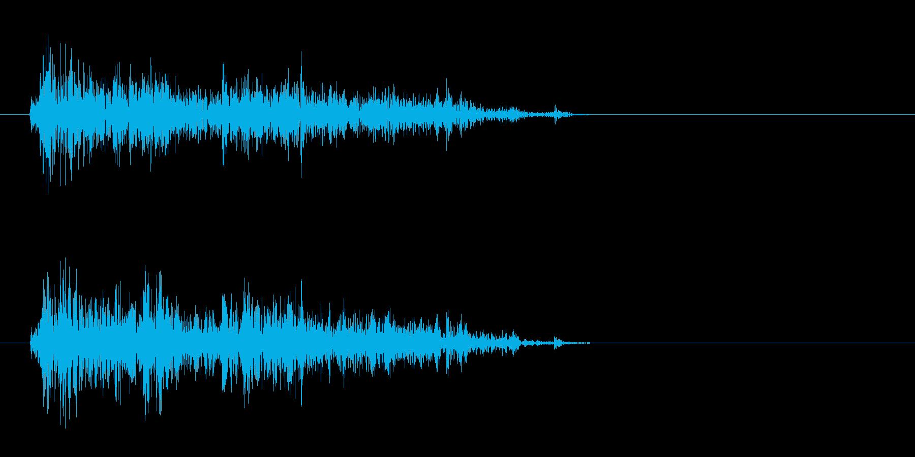 マガジンを装着する音の再生済みの波形