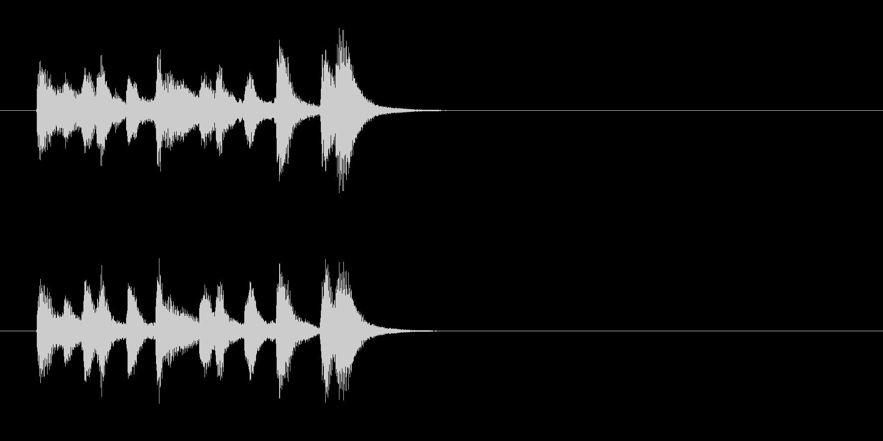 場面転換風クラシックのジングルの未再生の波形