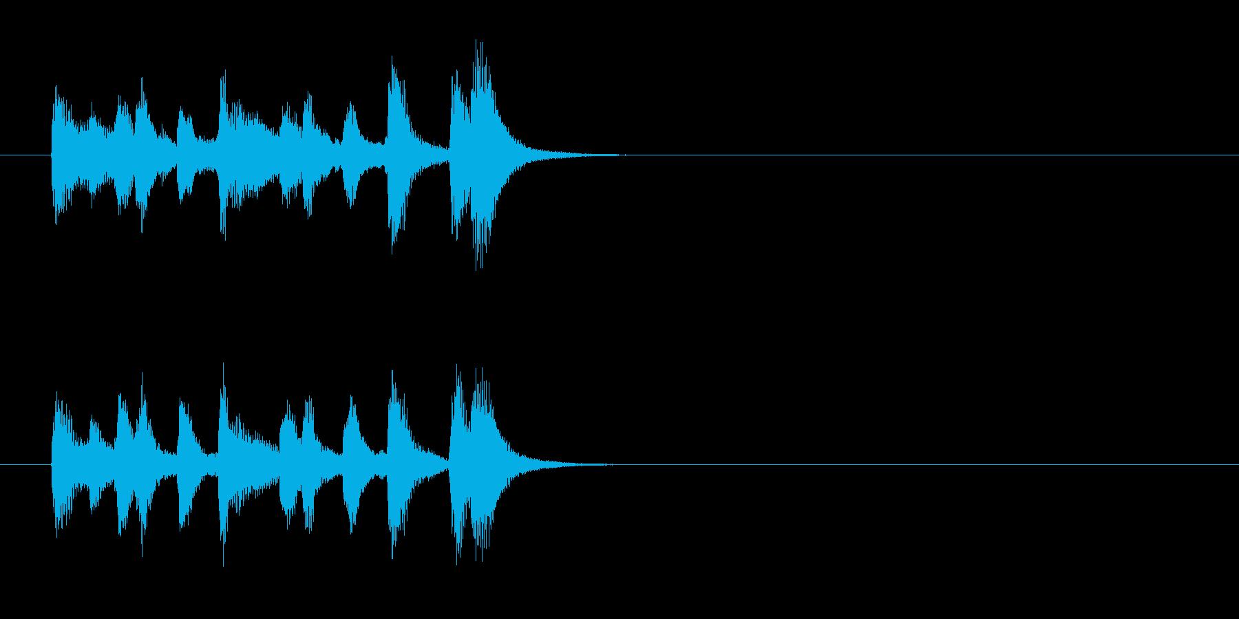 場面転換風クラシックのジングルの再生済みの波形