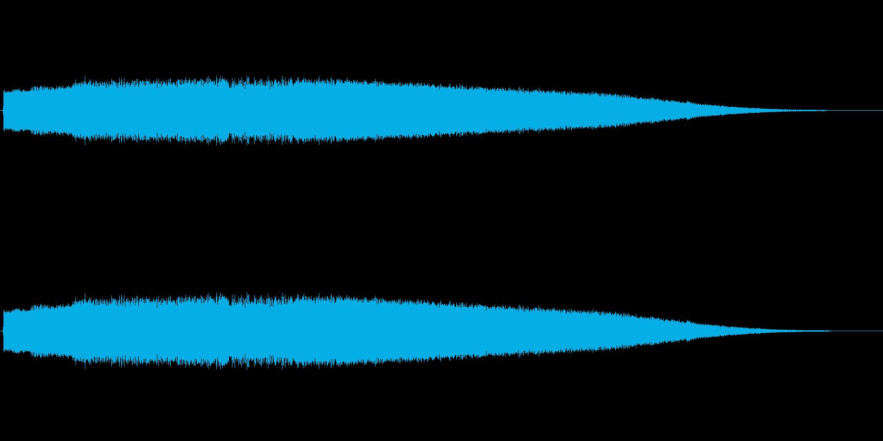 レーザービームの様な音色のサウンドロゴの再生済みの波形