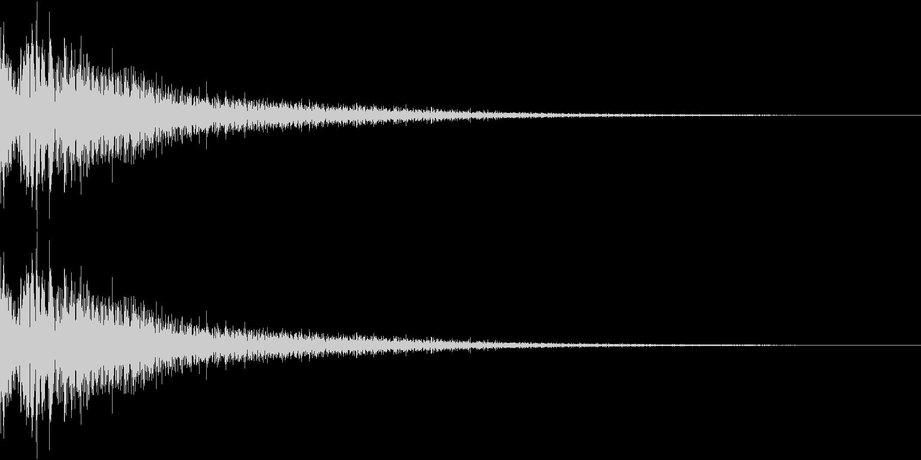 DTM Snare 6 オリジナル音源の未再生の波形