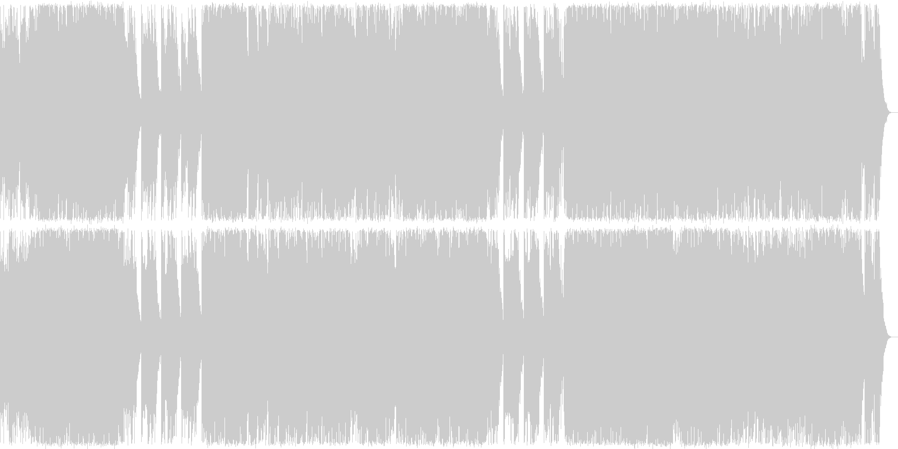ハロウィン系BGMジャックオーランタン の未再生の波形