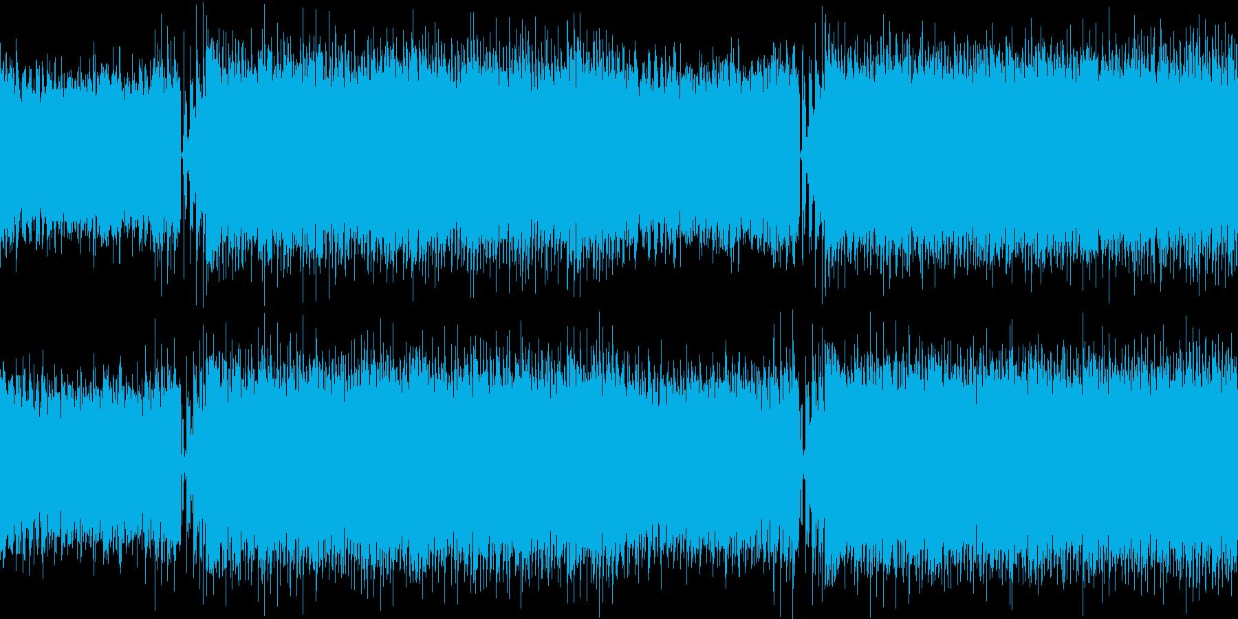 幻想的で華やかなハウスループの再生済みの波形