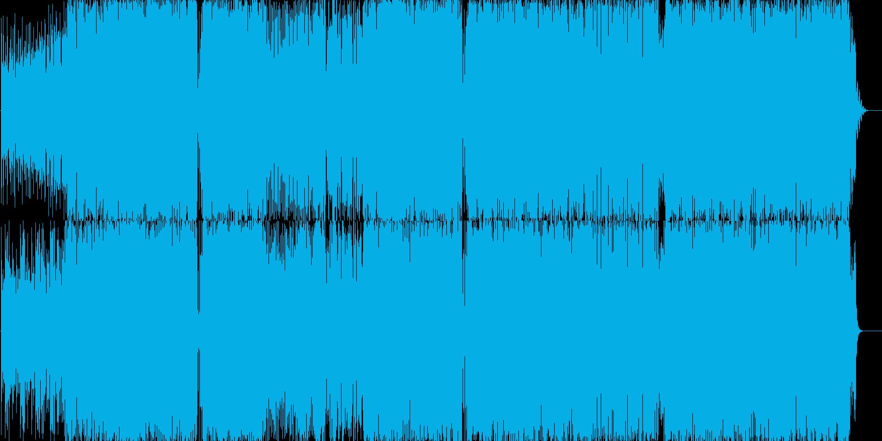 洋楽っぽいダンス楽曲の再生済みの波形