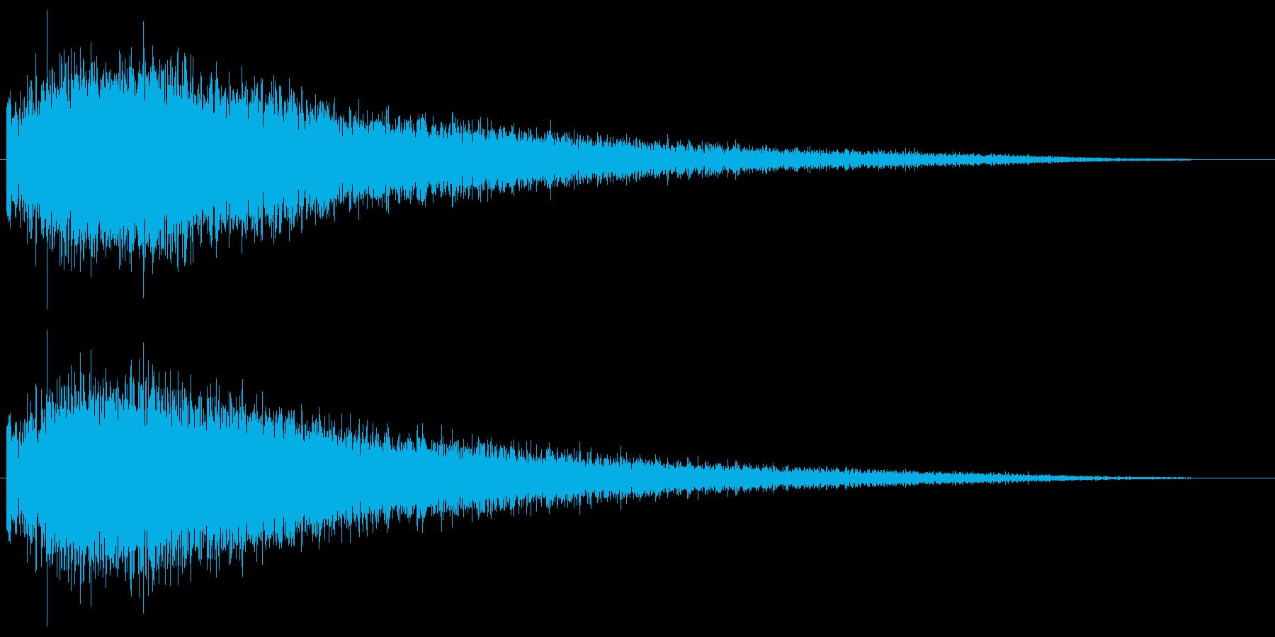 銅鑼のジャーン!という音ですの再生済みの波形
