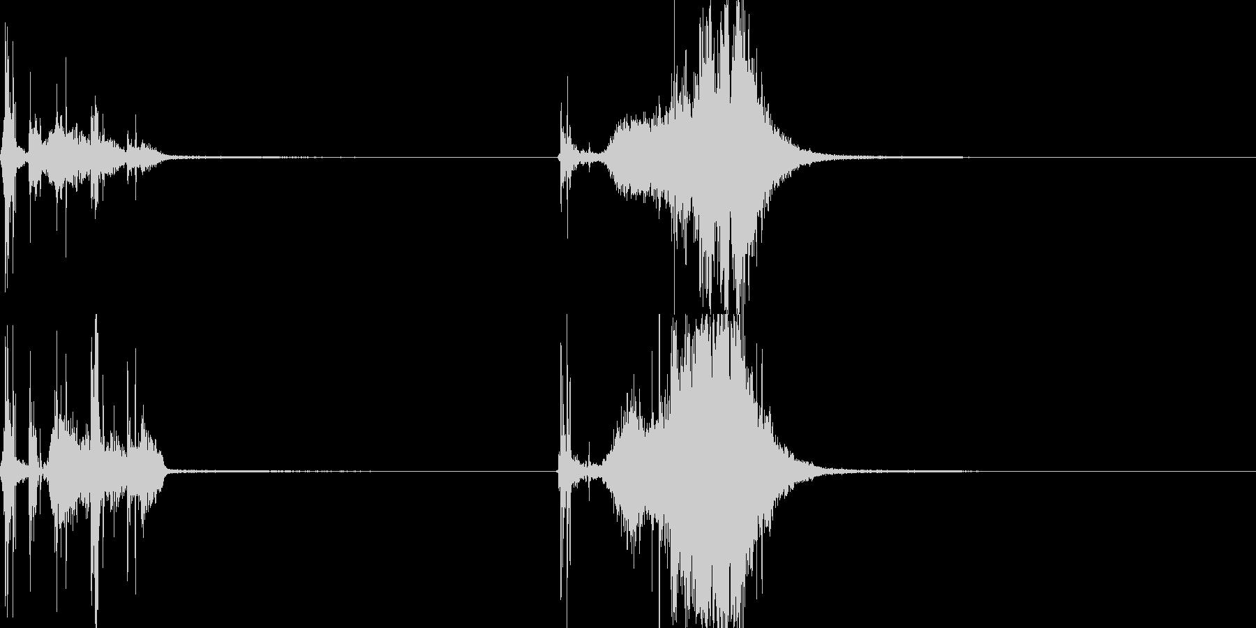 メジャー03(武器)の未再生の波形