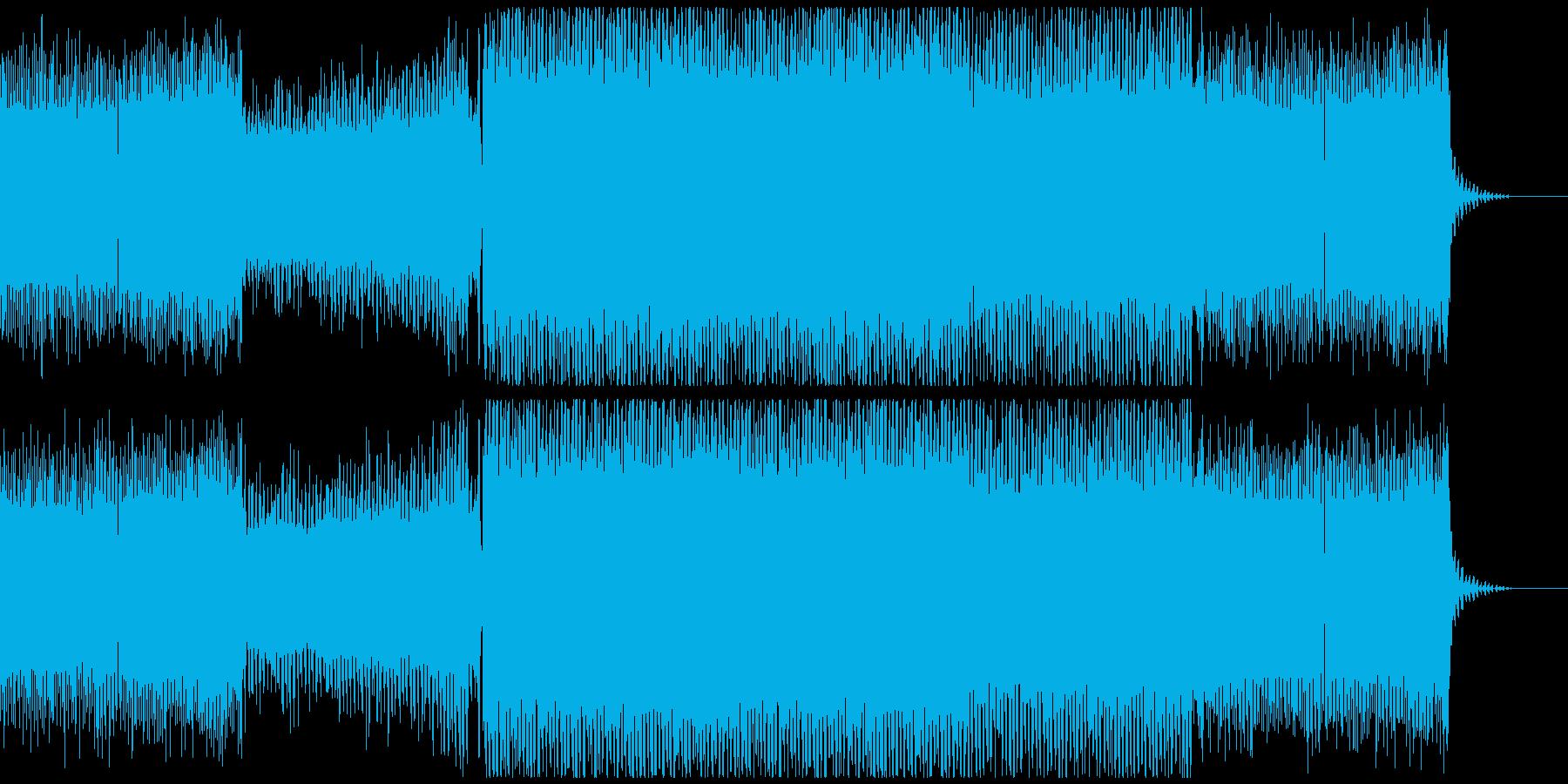 浮遊感のあるサイバートランス風BGMの再生済みの波形