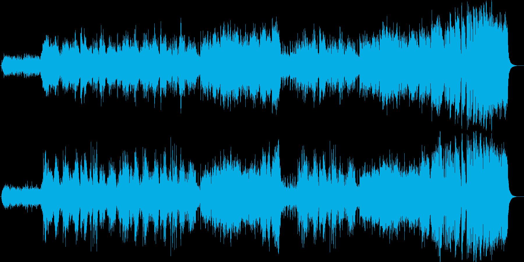 美しく壮大なシンセサイザーサウンドの再生済みの波形