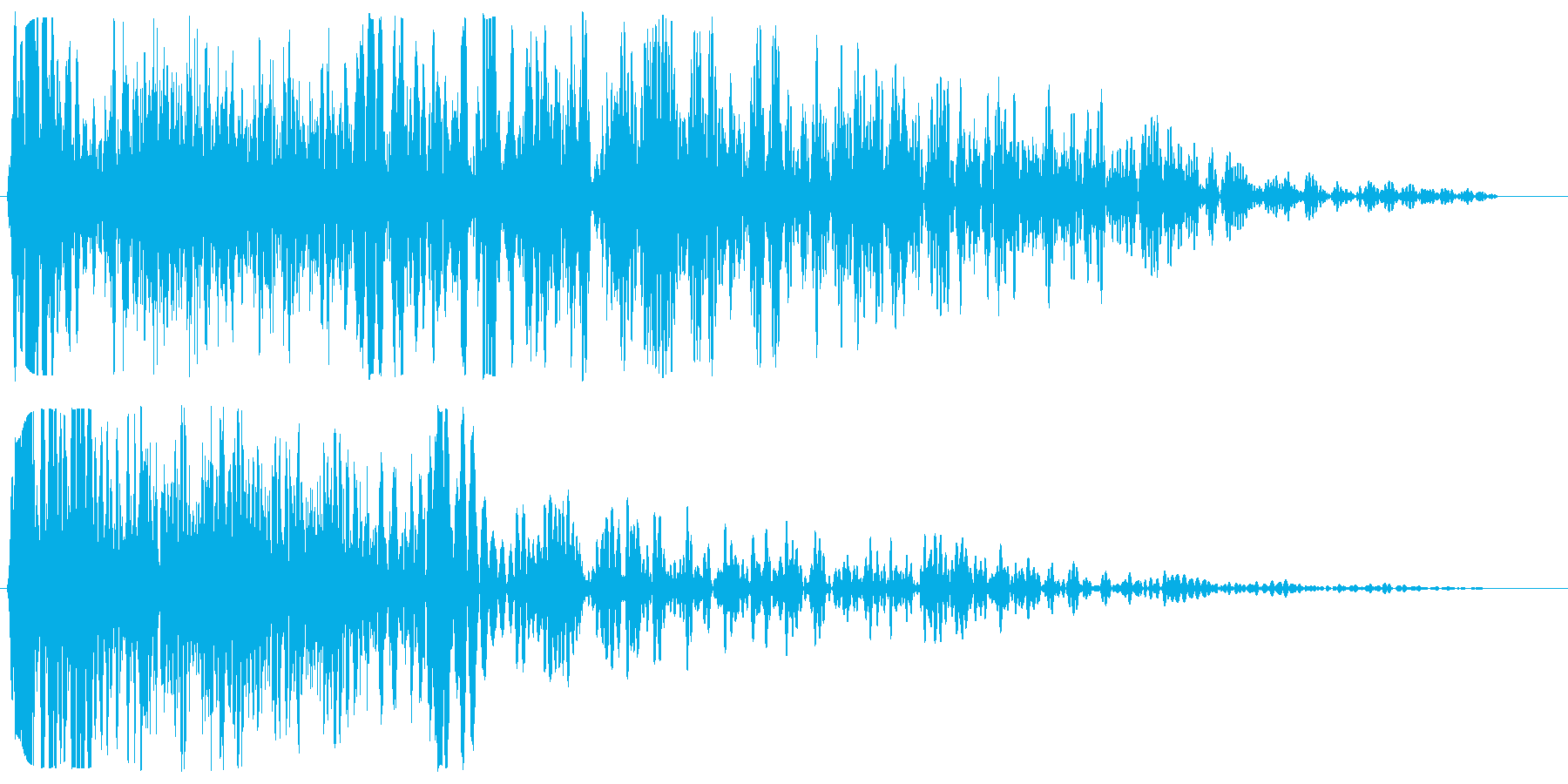 ブシューン(通過・落下音)の再生済みの波形