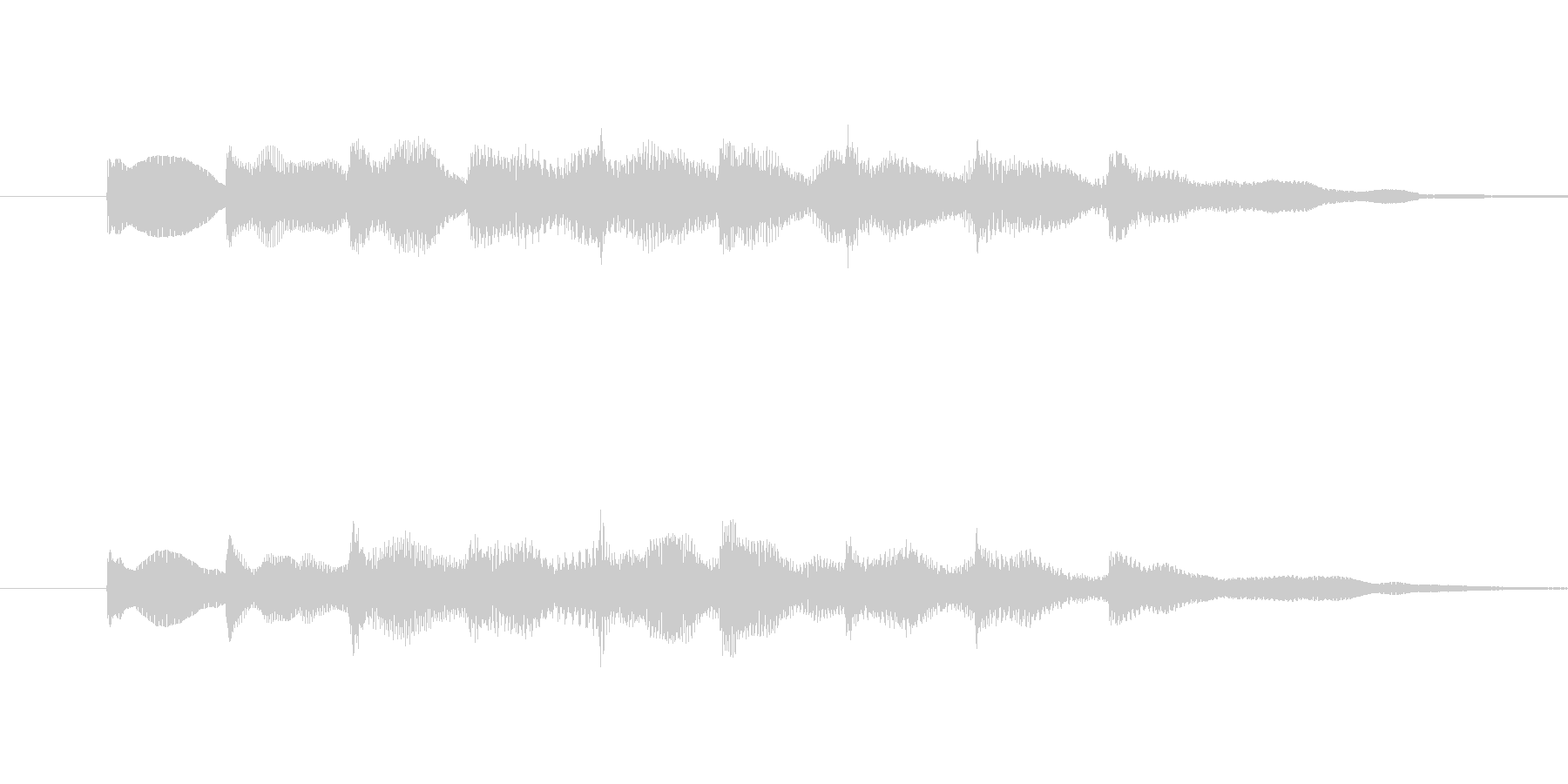・単音でシンプルなサウンドロゴです。・…の未再生の波形