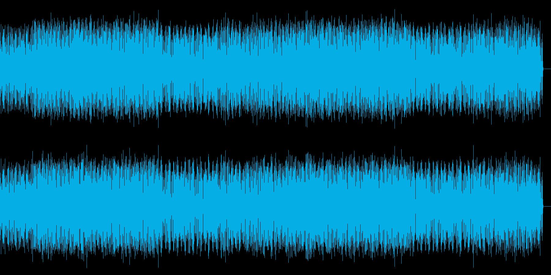 幻想的で電脳的なテクノの再生済みの波形