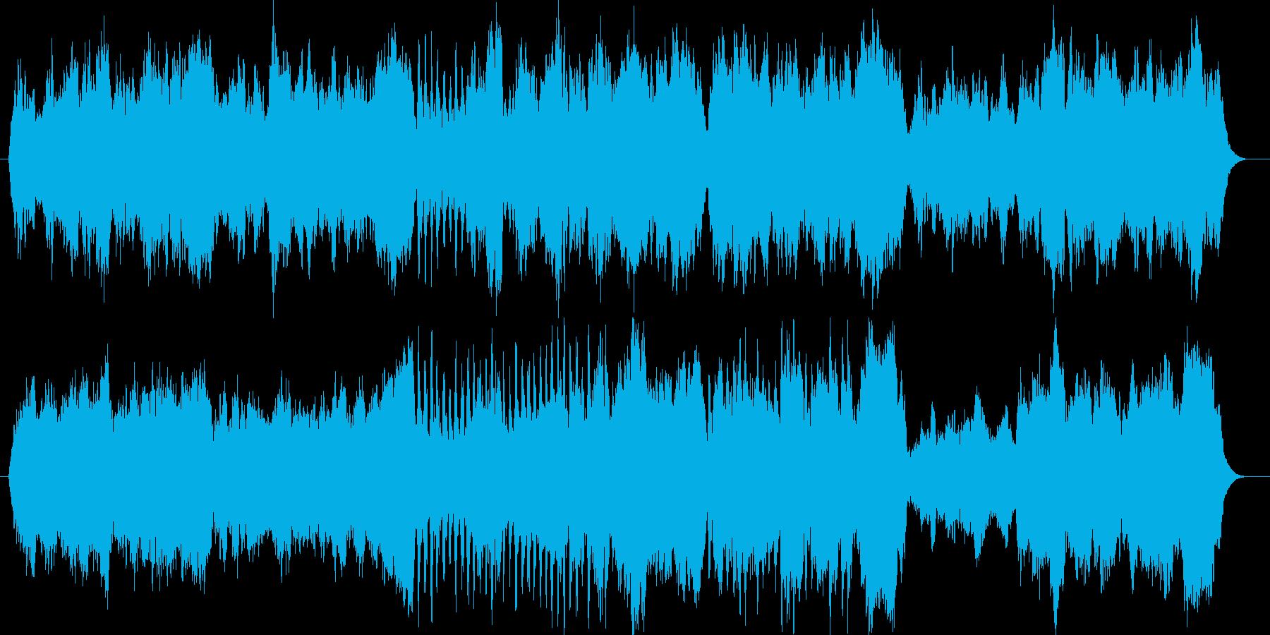 安心感を与えられるようなストリングス曲の再生済みの波形