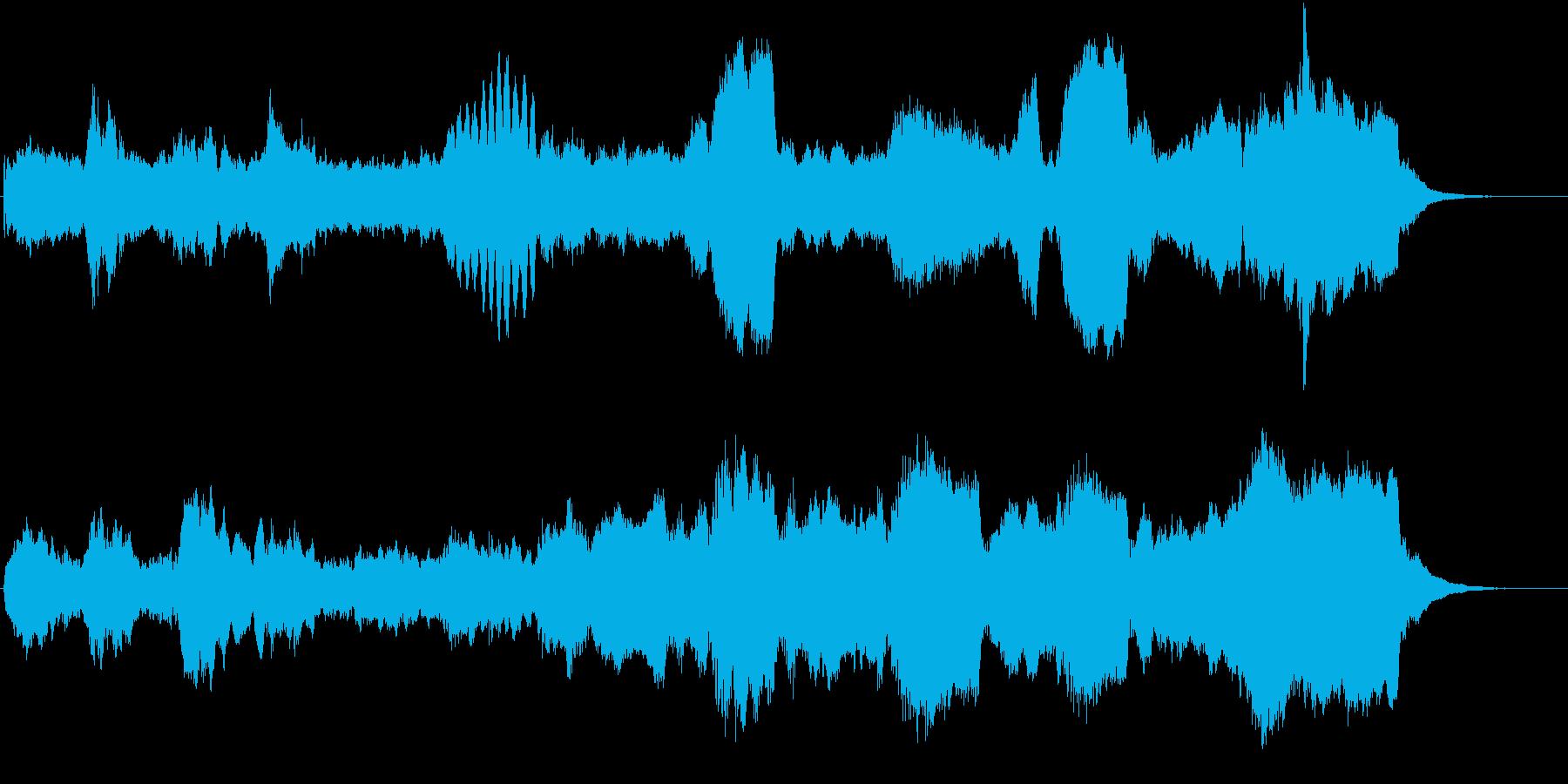 しんみりとした雰囲気のオーケストラ曲の再生済みの波形