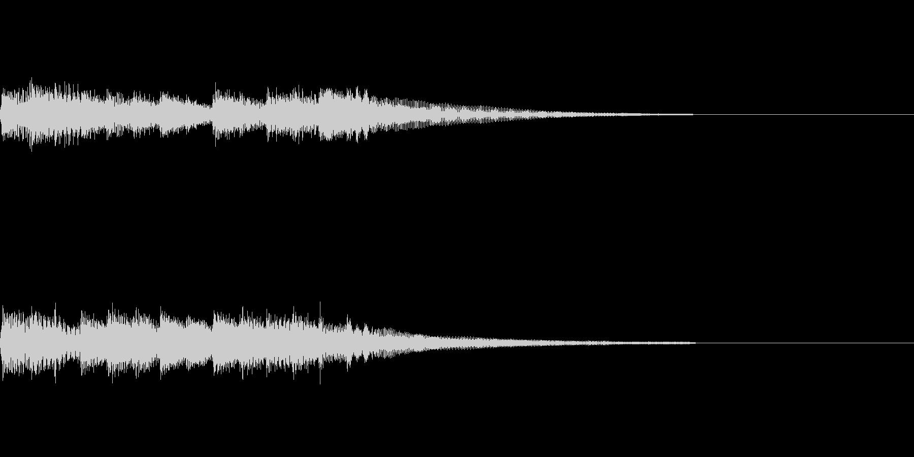 ピアノジングル4、ドキュメンタリー風の未再生の波形